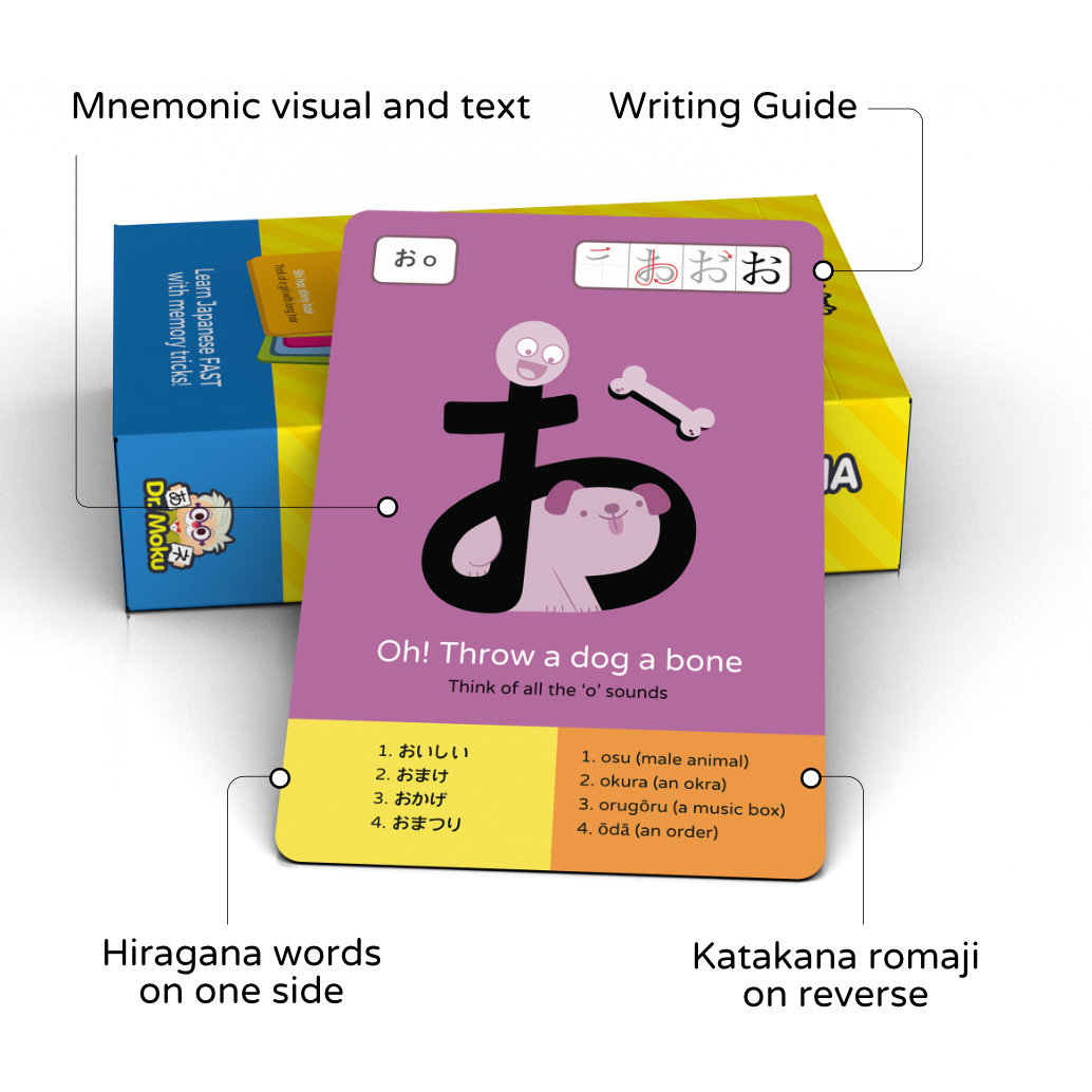 Hiragana and Katakana Japanese flash cards